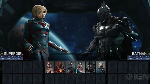 An early look at the character select screen.