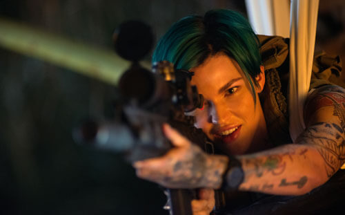 Ruby Rose as sharpshooter Adele