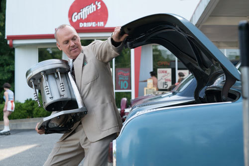 Ray (Michael Keaton) with his milkshake mixer