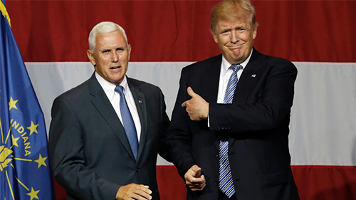 Vice President Mike Pence and President Donald Trump.