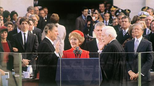 Ronald Reagan's inauguration in 1981.