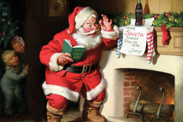 Coca-Cola made Santa's red and white outfit popular