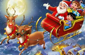 Preview santa claus sleigh reindeer pre