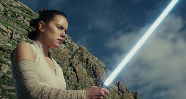 Rey must learn to use the light saber