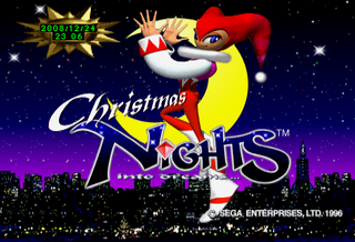 The start screen for Christmas NiGHTS Into Dreams.