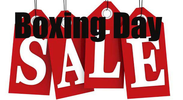 Boxing Day takes place December 26th