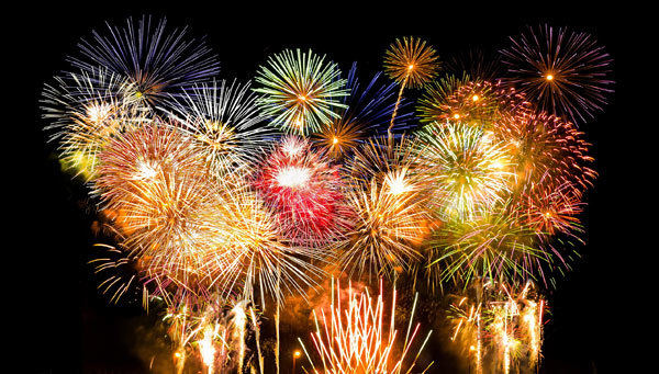 Some cities have fireworks for New Year's