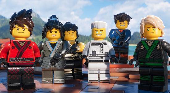 Lloyd (right) and his ninja crew