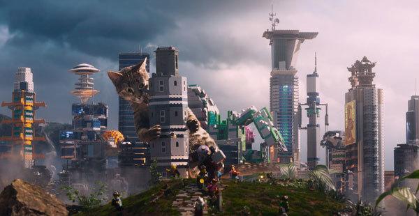 Meowthra attacks the city