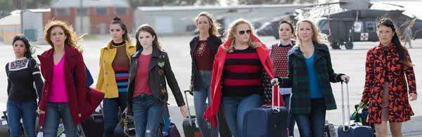 Chloe (Brittany) and the girls arrive for their USO tour