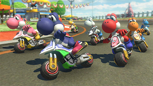 Mario Kart 8 Deluxe's graphic are the cherry on top of this game's excellent gameplay.