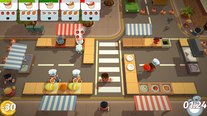 You'll get a real appreciation for how hard it is to cook with Overcooked.