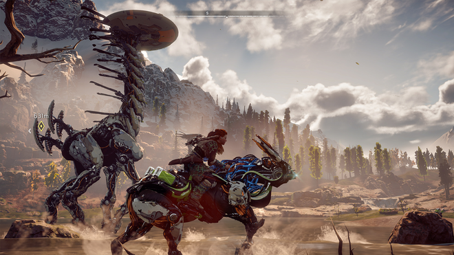 Horizon Zero Dawn's visuals and art style are what elevate the look of the game so highly.