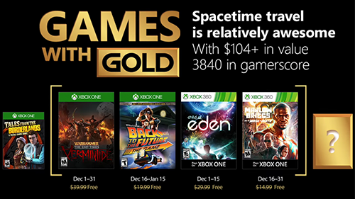 Xbox's Games with Gold lineup for December 2017.