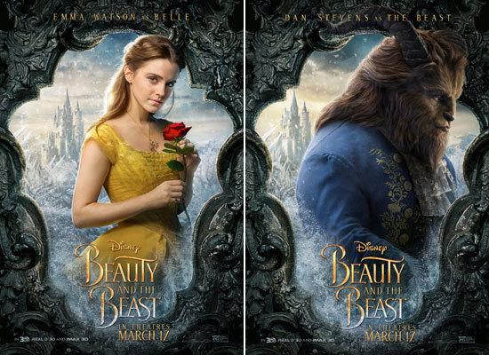 Emma Watson as Belle and Dan Stevens as the Beast