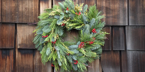Feature holiday wreath feat