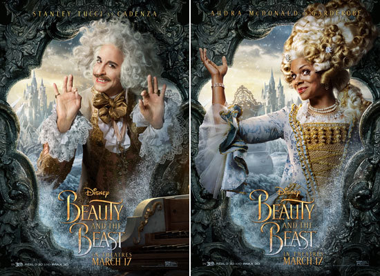Stanley Tucci as Cadenza and Audra McDonald as Garderobe