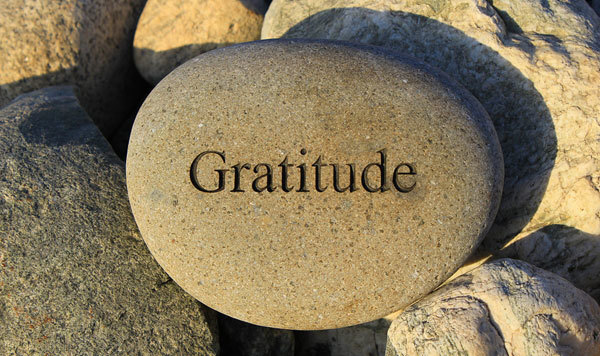 Gratitude can come in many different forms.
