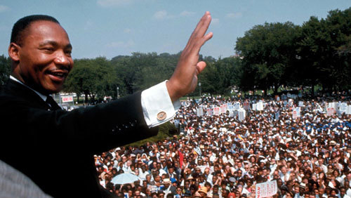 Martin Luther King Jr. leads the March on Washington