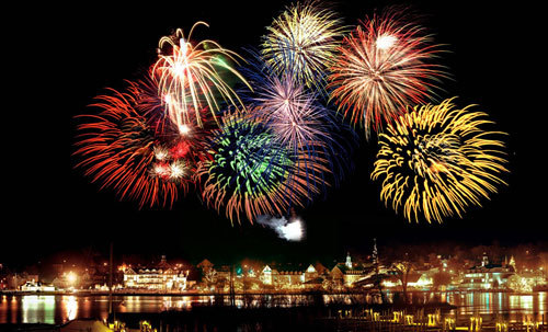 Fireworks are used to celebrate the New Year
