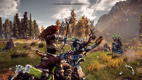 Horizon: Zero Dawn shows off a beautiful open world.