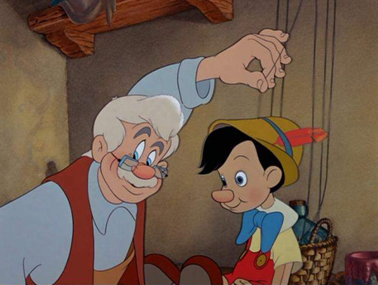 Geppetto with Pinochhio