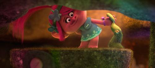 Poppy greets a tiny pal