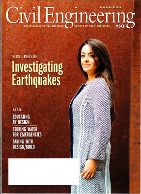 Menzer on cover of Civil Engineering magazine