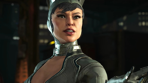 Catwoman's new look in Injustice 2.