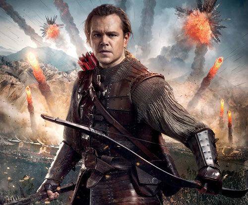 Matt Damon as William Garin with his trusty bow