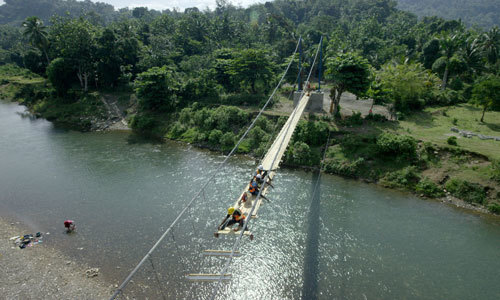 Building a bridge in Haiti