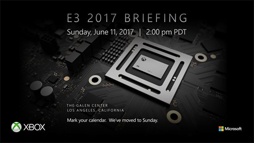 Microsoft plans to kick off E3 2017 on a Sunday.