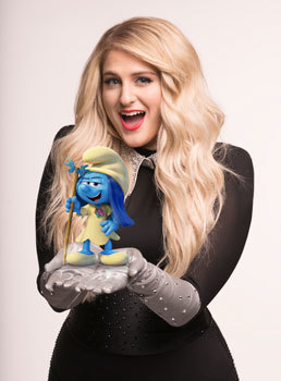 Meghan Trainor voices Melody Smurf