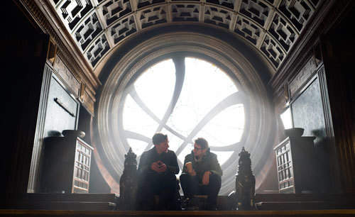 Benedict Cumberbatch talks to director Scott Derrickson
