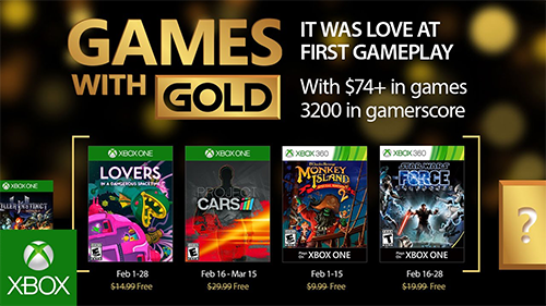 Xbox's Games With Gold for February 2017.