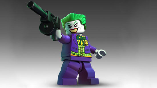 The actual Joker LEGO mini-figure