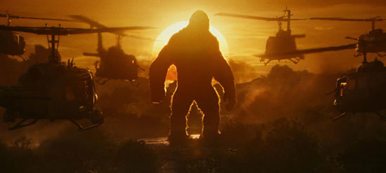 Kong vs the helicopters