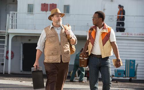 Randa with scientist Brooks (Corey Hawkins)