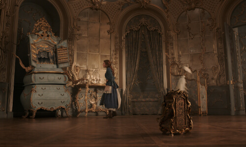 Belle discovers the talking furniture