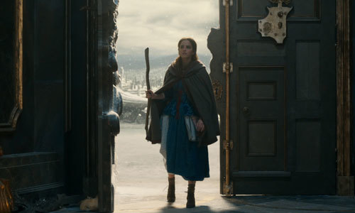 Belle first enters the Beast's castle