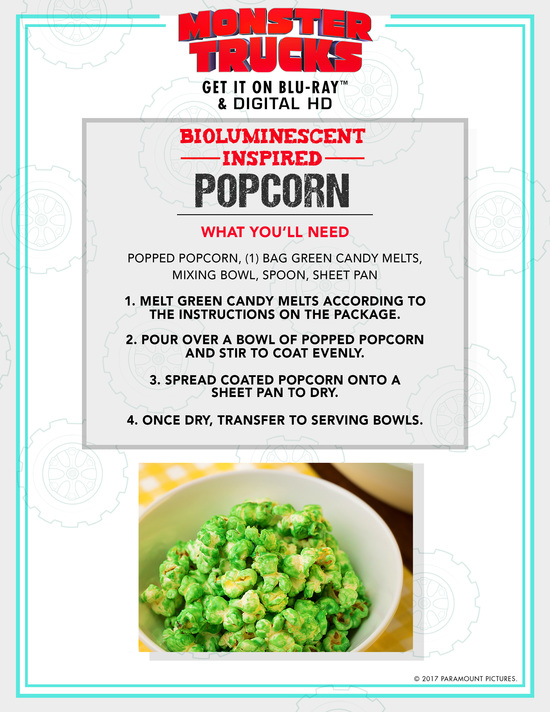 How to make luminescent Popcorn instructions