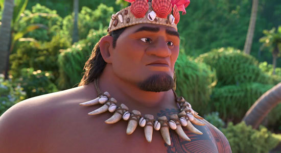 Moana's dad says don't sail beyond the reef