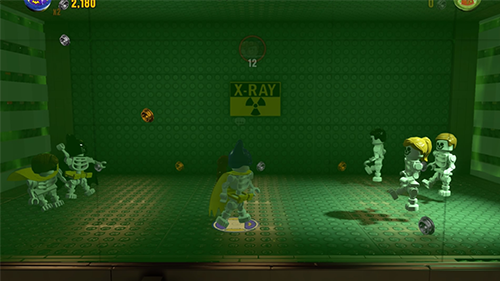 The X-Ray fight is one of the funnier gags in the game.