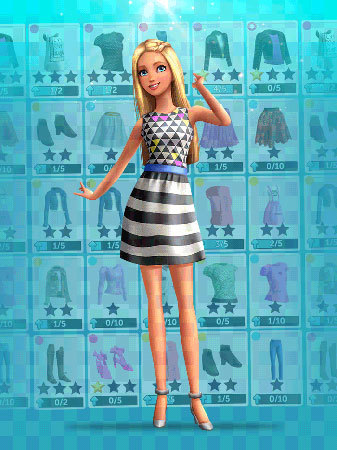 Customize Barbie's closet