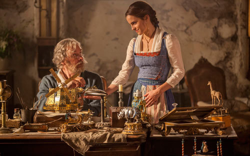 Belle with her loving father (Kevin Kline)