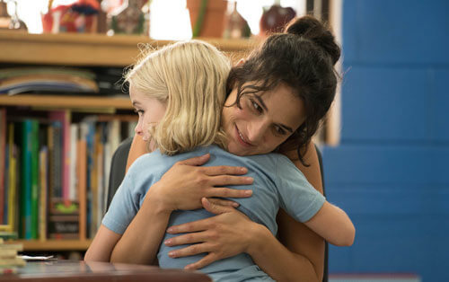 Bonnie hugs her student Mary