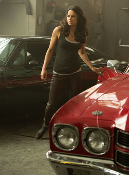 Letty (Michelle Rodriguez) worries about Dom