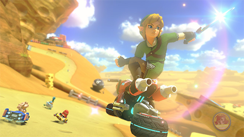 Link isn't waiting until future DLC to ride in Mario Kart 8 Deluxe.