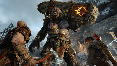 An insane kickoff for Sony's E3 conference, God of War will hopefully hit store shelves this year.
