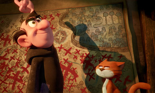 Gargamel with his cat Azrael